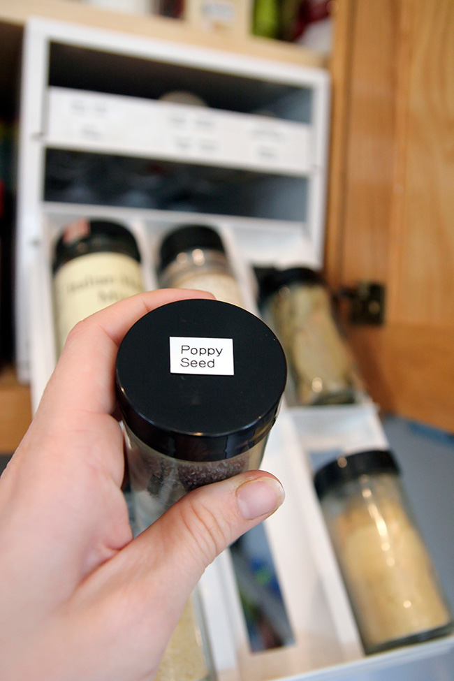 Labeled Spice Jars