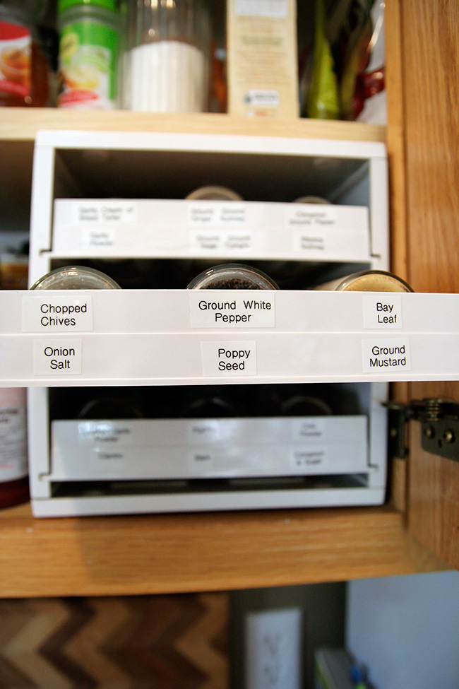 Labels Spice Rack