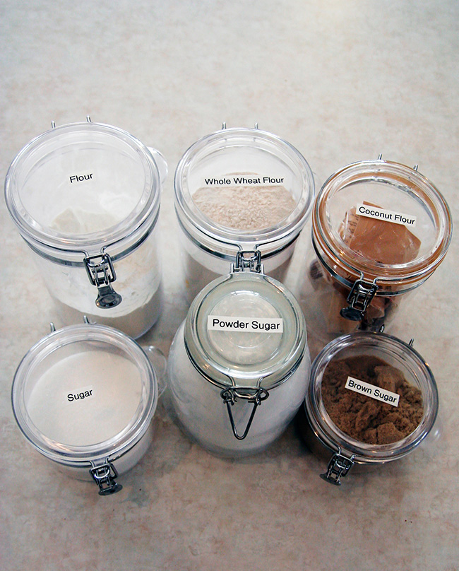 Labeled Pantry Containers