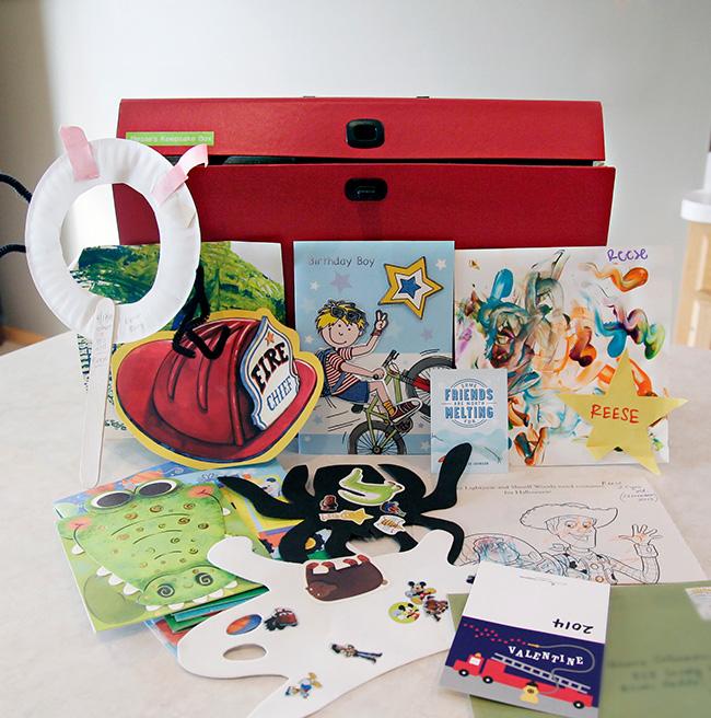 Labeled Children's Keepsake Box