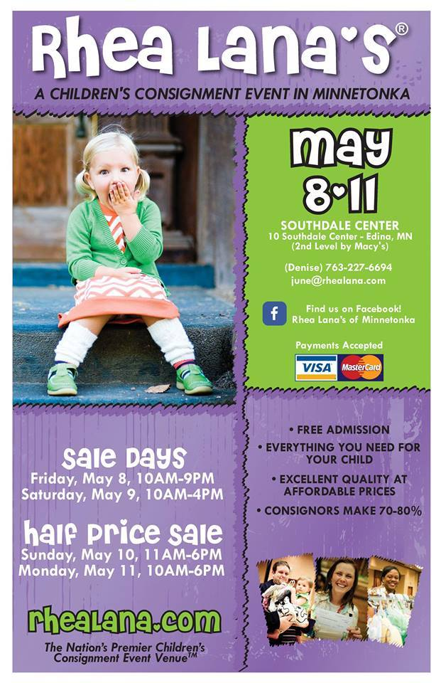 Rhea Lana Children's Consignment Event in Minnetonka, MN