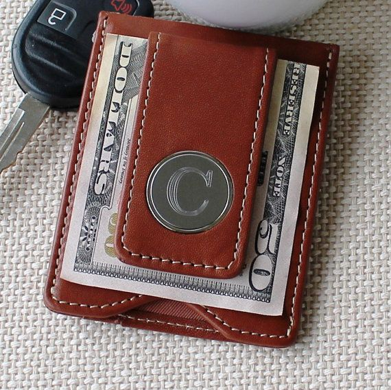 Personalized Leather Money Clip and Wallet Combo | Annie Johnson. Design Love Life