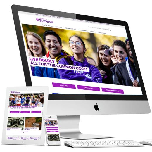 Screenshot of St. Thomas homepage