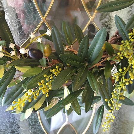 close up of a wreath - diy