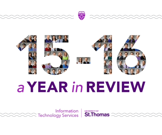 ITS Annual Report cover page with the year 15-16