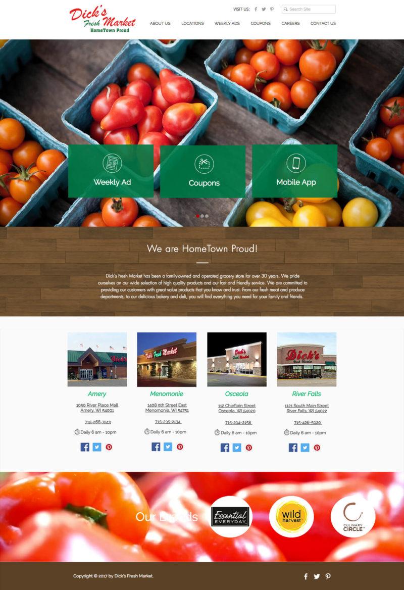 Dick's Fresh Market Website
