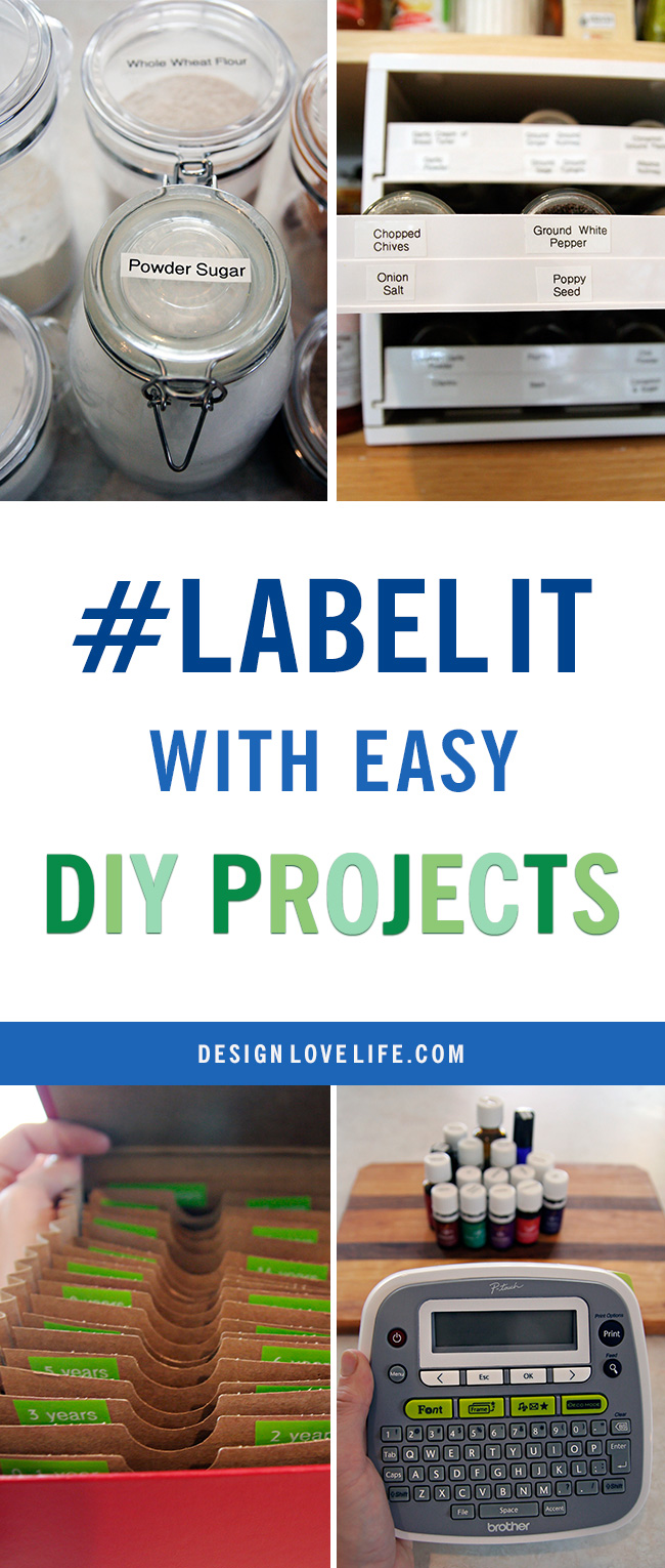 Label It with Easy DIY Projects and a giveaway!!