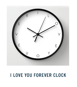I Love You Forever Clock