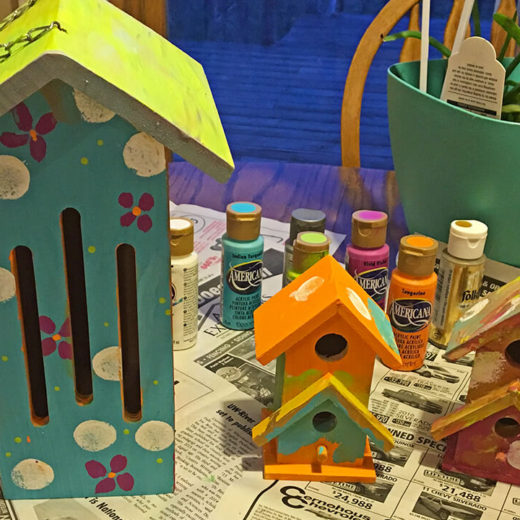 DIY: Mother's day painted bird house