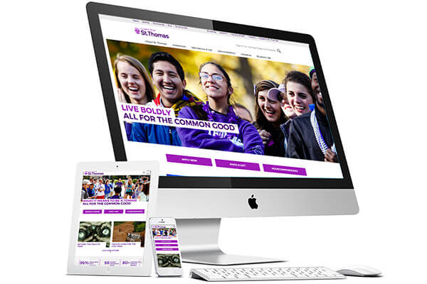 Rebrand for University of St. Thomas: Castor Web Template