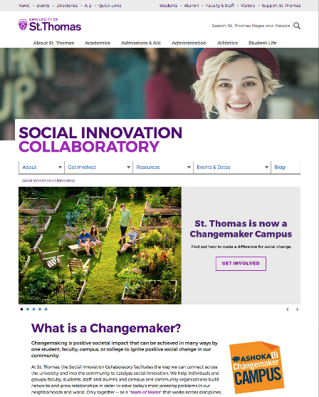University of St. Thomas: Changemakers
