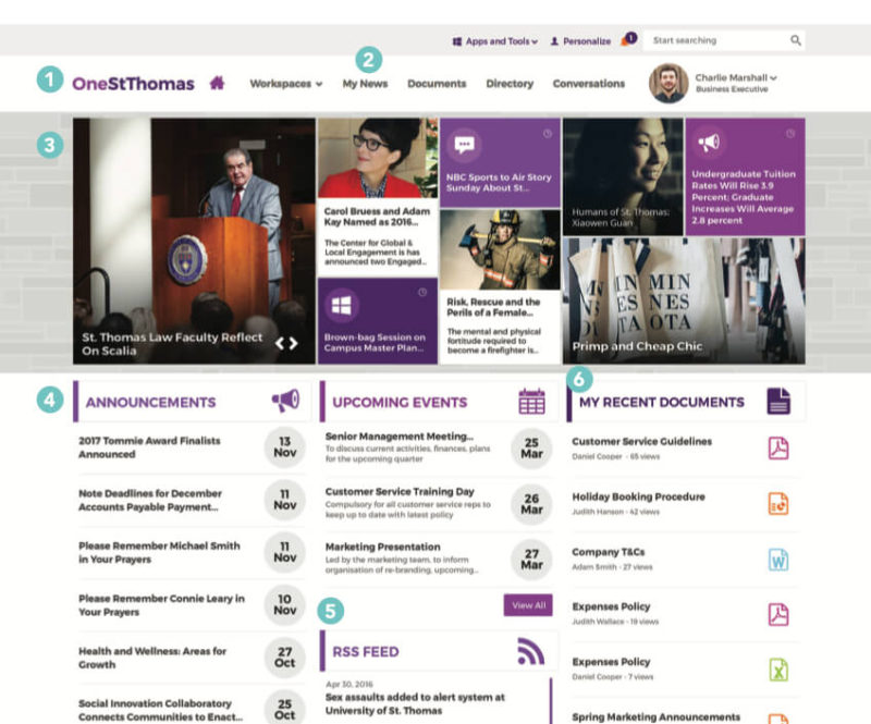 University of St. Thomas: Intranet