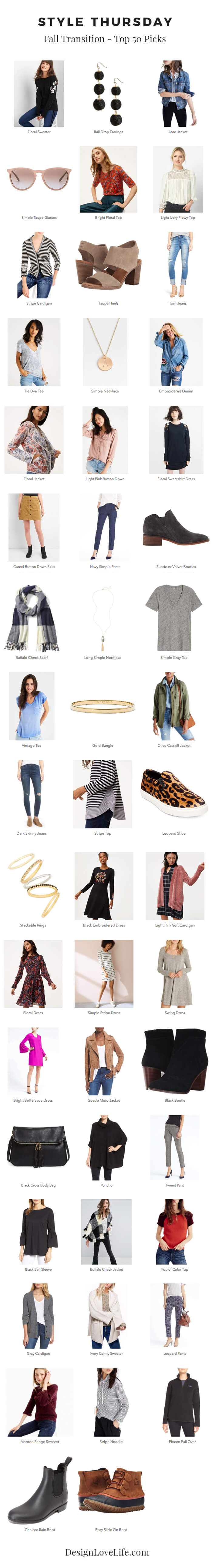 Style Thursday - Fall Transition Top 50 Pics Imagery Header