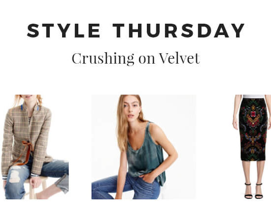Style Thursday - Crushing on Velvet - Imagery Header