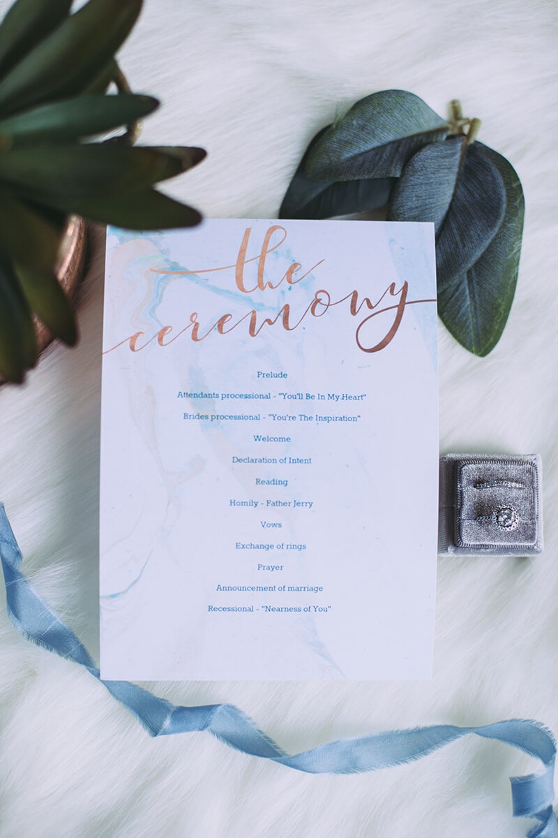 Last-Minute Wedding Ideas, Ceremony or Program Cards