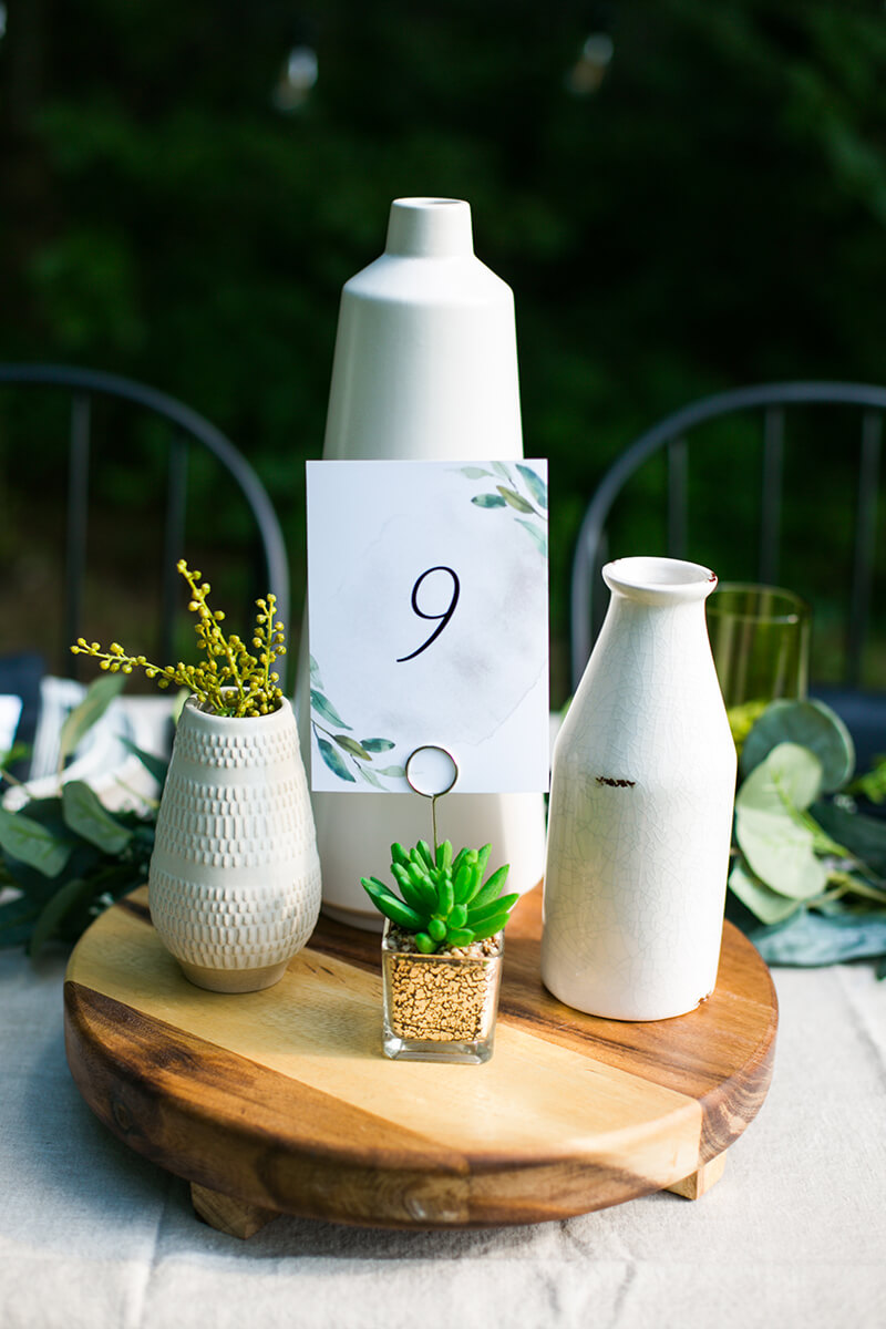 Last-Minute Wedding Ideas, Table Numbers