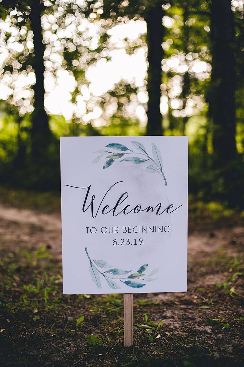 Last-Minute Wedding Ideas, Signage