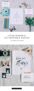 Creative Quote Art, Inspired by Little Women