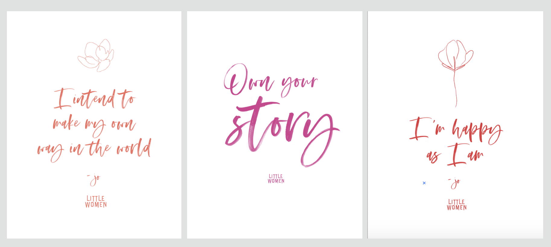 2 - Little Women movie quotes framed and stationery - Annie Johnson, Design Love Life