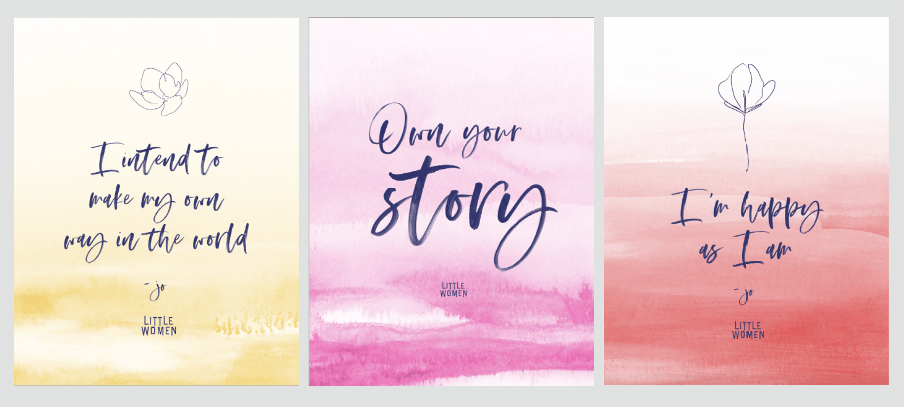 3 - Little Women movie quotes framed and stationery - Annie Johnson, Design Love Life