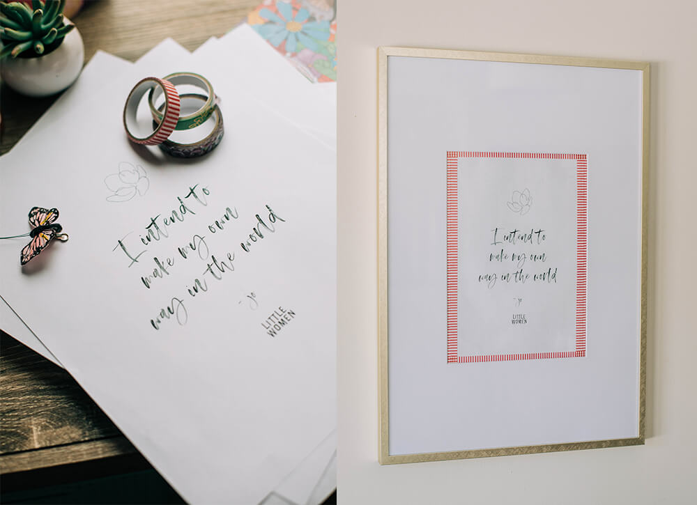 Little Women movie quotes framed and stationery - Annie Johnson, Design Love Life