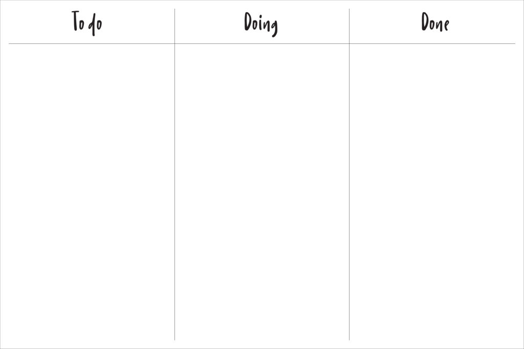 blank simple kanban board from Design Love Life in partnership with Walmart Photo