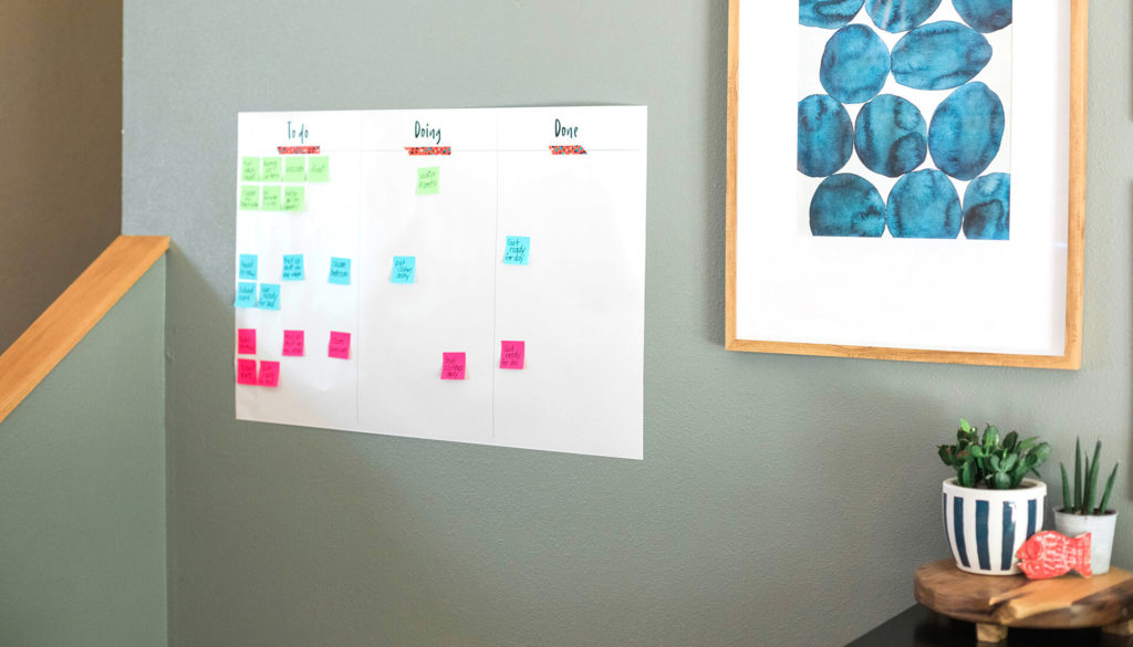 Fun things to do at home with Walmart Photo - kanban board