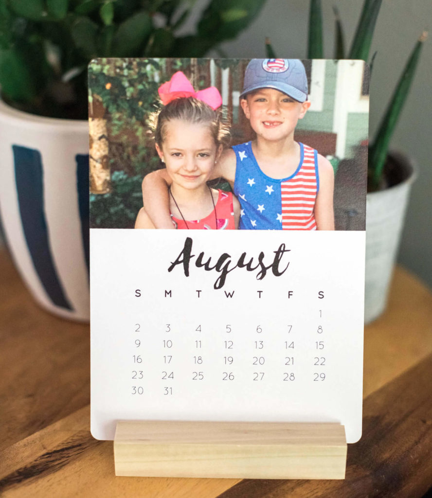 create an easel calendar and upload your favorite images with Design Love Life and Walmart Photo