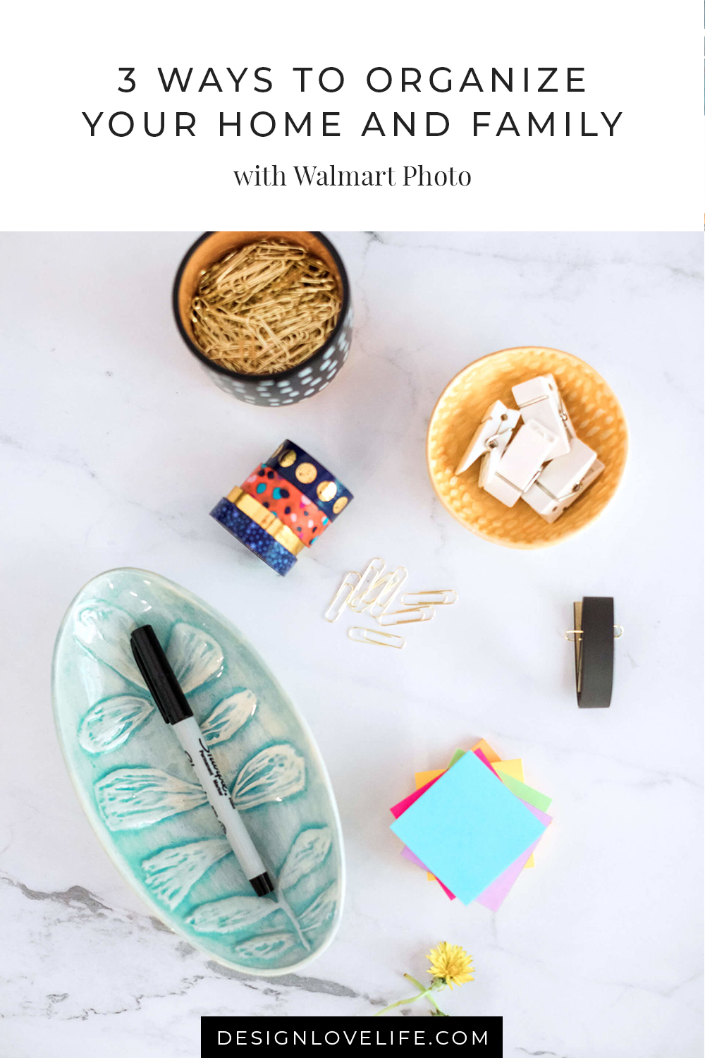 supplies for a kanban board from Design Love Life in partnership with Walmart Photo Center