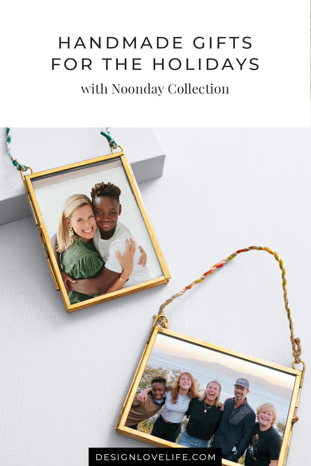 Unique-handmade and handcrafted gifts for the holidays. Shop these Momento Frames that can hold any photo, note, pressed flower. Beautiful crafted brass and can be hung for Christmas or on the wall. Noonday Collection and Annie Johnson.