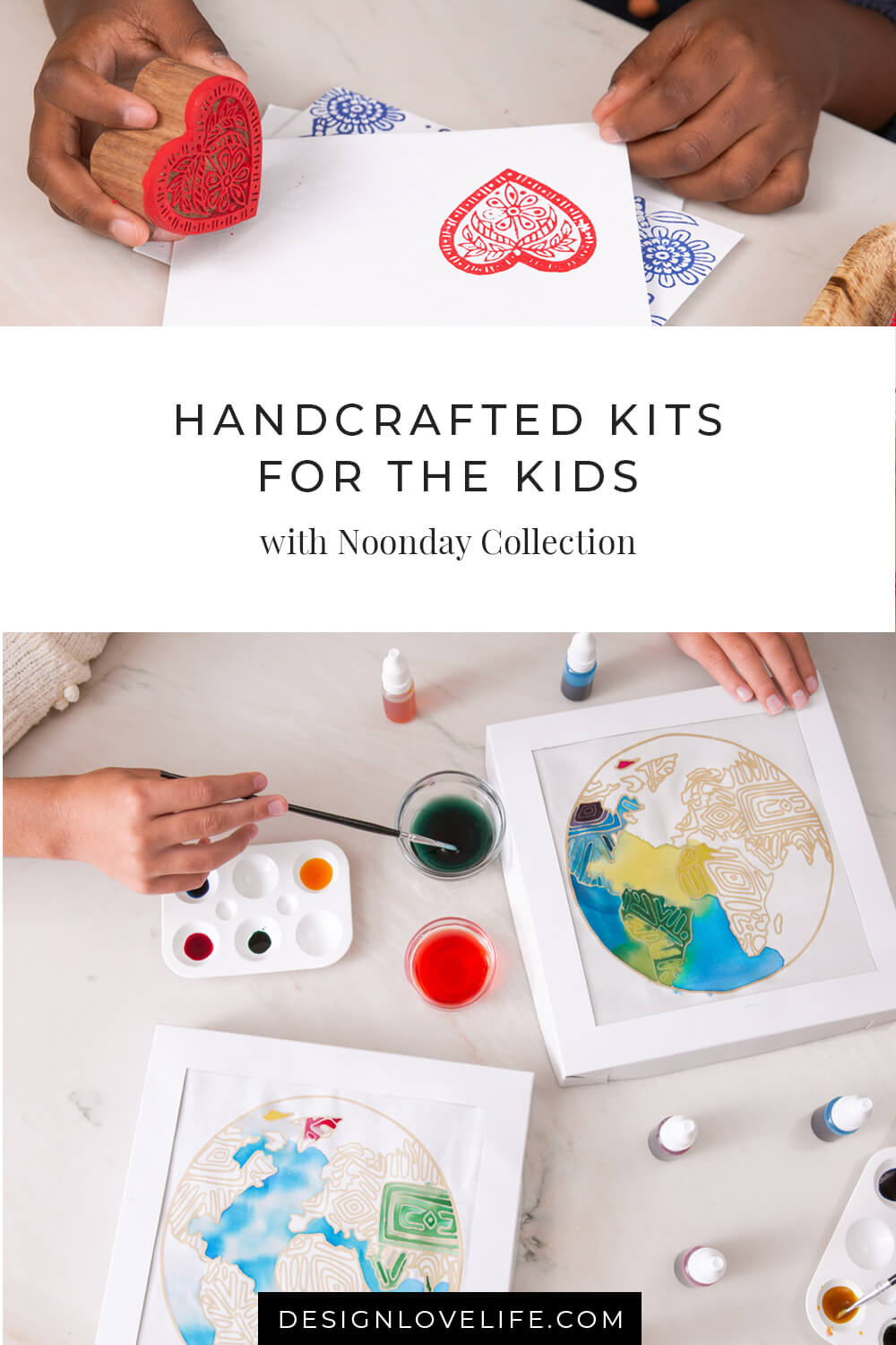 DIY kits are a thoughtful and joyous way to celebrate connection this holiday season! This Batik Dye Kit has everything you need to create a colorful work of art. Keep a set for you or your kids and gift a set to a friend! Noonday Handmade Gifts for Kids.