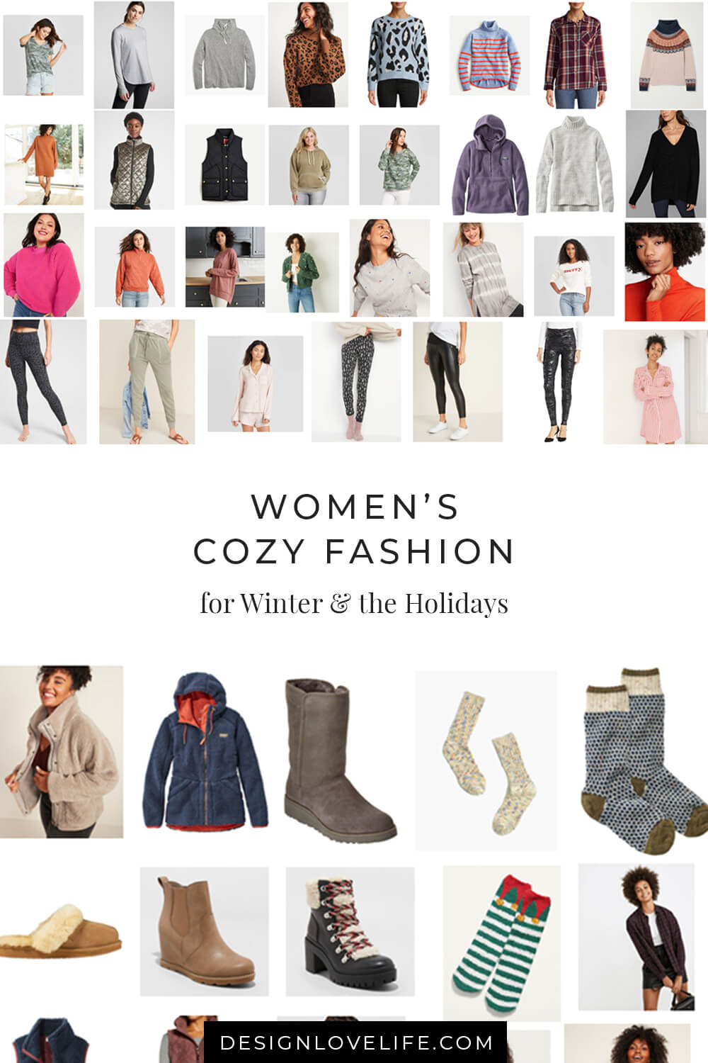 Cozy looks for the Winter and the holidays, from relaxing before bedtime to savoring coffee before the day kicks off. Women's Fashion. Annie Johnson - Design Love Life.