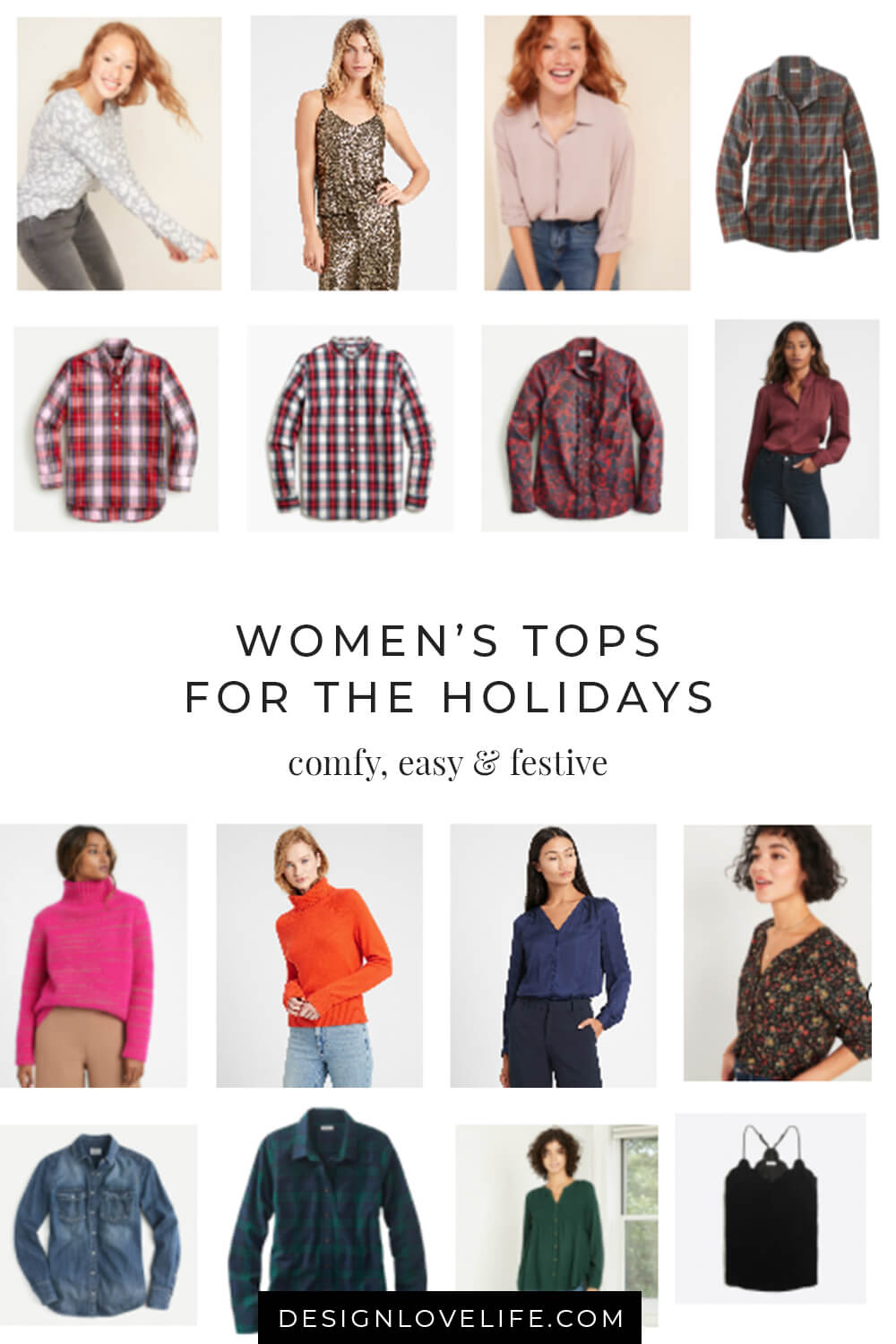 Women's fashion tops for the holiday season - cozy, easy and festive. Annie Johnson | Design Love Life