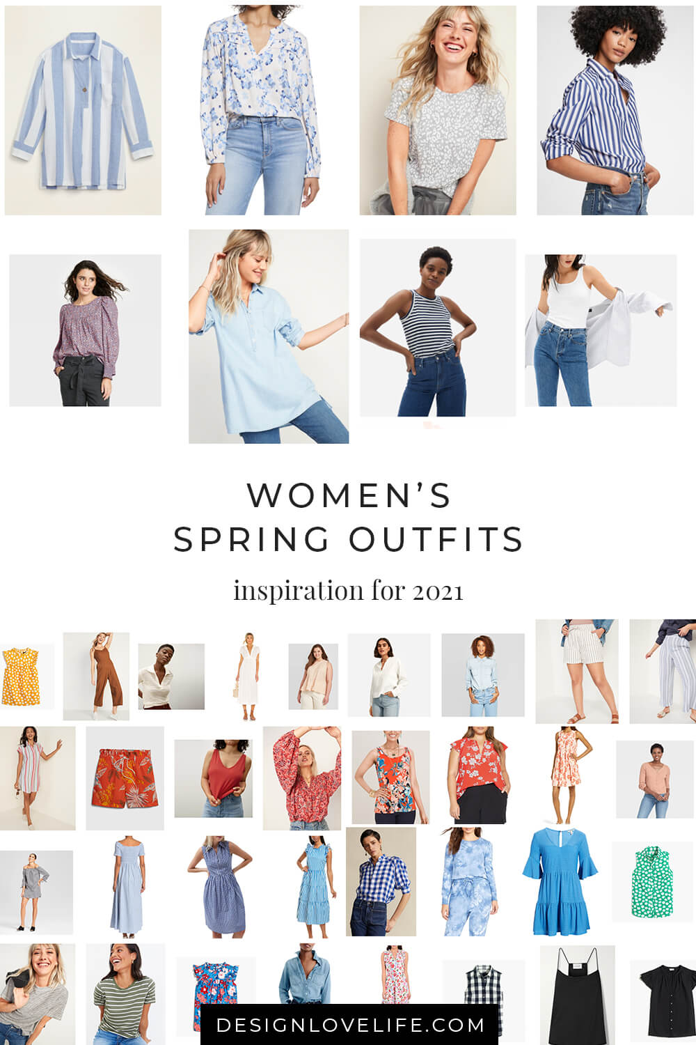 Spring Outfits Inspiration 2021. Women's Fashion. Annie Johnson - Design Love Life.