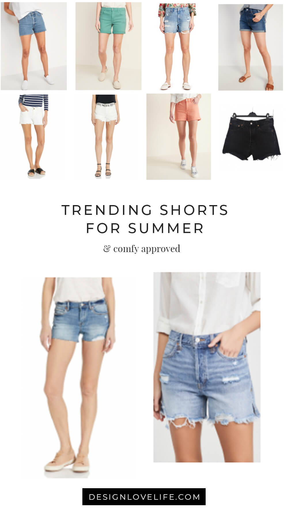 Get your shorts on for warmer weather. Shop top trending shorts for summer! Annie Johnson | Design Love…</p> 			<p><a href=