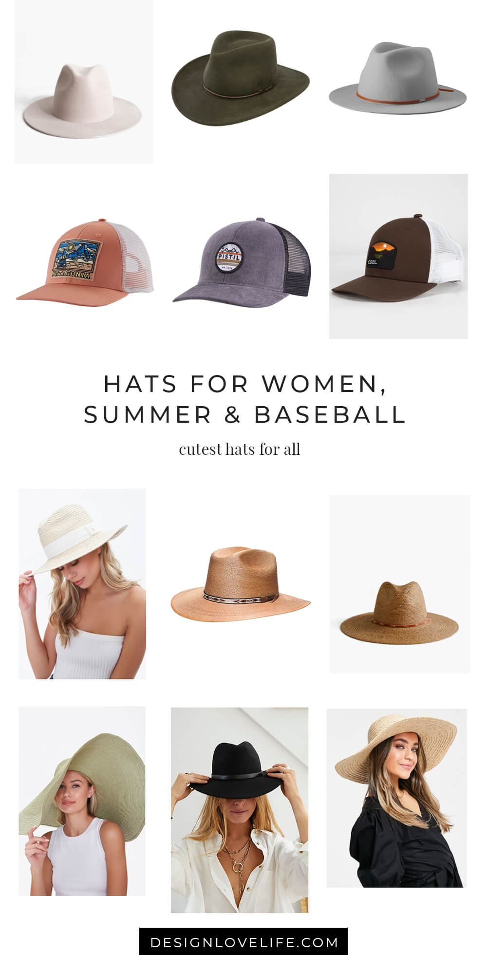 Hats for women, sunshine and baseball. Put away those stocking hats, the sun is out and it's new hat weather season! Annie Johnson | Design Love Life